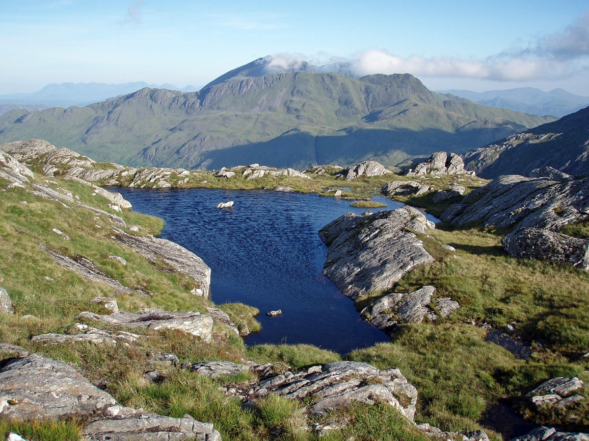 Wild camp between Luinne Bheinn and Meall Buidhe